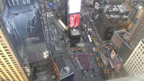 Times Square New York City from above stock video footage