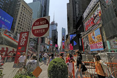 TIMES SQUARE, NEW YORK CITY  BROADWAY Royalty Free Stock Image