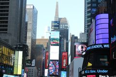 Times Square New York City, Buildings, Neon Signs. Buildings and signs in Times Square, Midtown Manhattan royalty free stock photography