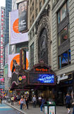 Times Square New York City de Hard Rock Cafe Fotografia de Stock Royalty Free