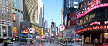 Times Square. NEW YORK CITY - December 20: Times Square is a symbol of New York City in United States, December 20, 2015 in Manhattan, New York City, USA royalty free stock image