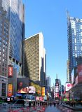 Times Square. NEW YORK CITY - December 20: Times Square is a symbol of New York City in United States, December 20, 2015 in Manhattan, New York City, USA royalty free stock photo