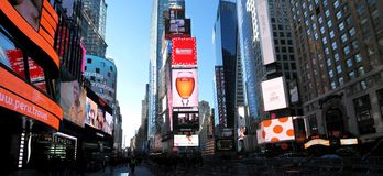 Times Square. NEW YORK CITY - December 20: Times Square is a symbol of New York City in United States, December 20, 2015 in Manhattan, New York City, USA royalty free stock photos