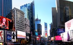 Times Square. NEW YORK CITY - December 20: Times Square is a symbol of New York City in United States, December 20, 2015 in Manhattan, New York City, USA royalty free stock photography