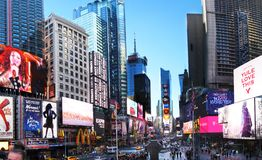 Times Square. NEW YORK CITY - December 20: Times Square is a symbol of New York City in United States, December 20, 2015 in Manhattan, New York City, USA stock photo