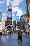 Times Square New York City. Times Square, featured with Broadway Theaters and animated LED signs, is a symbol of New York City and the United States, October 25 royalty free stock photos