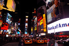 Times Square New York City. Is in the junction of Broadway and Seventh Avenue. Times Square is the world's most visited tourist attraction having over 39 stock photos