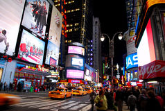 Times Square New York City. Is in the junction of Broadway and Seventh Avenue. Times Square is the world's most visited tourist attraction having over 39 stock photo