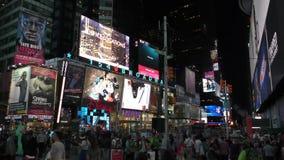 Times Square New York City na noite video estoque