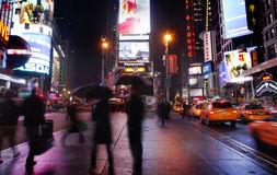 Times Square in New York City at Night Stock Image
