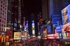 Times Square New York City Night. Times Square Lightshow, Advertising, Plays, People Cars Crowds New York City Skyline Night royalty free stock photo
