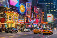 Times Square. NEW YORK CITY Times Square at night stock image