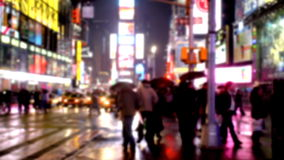 Times Square In New York. City At Night stock footage