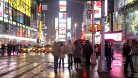 Times Square In New York stock video