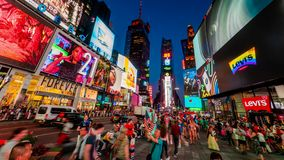 Times Square New York City Night Timelapse. stock footage