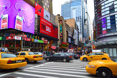 Times Square in New York City, NY USA Stock Image