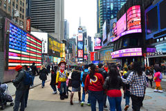 Times Square in New York City, NY USA Stock Images
