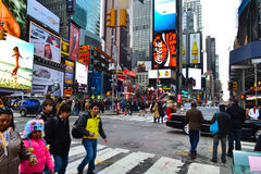 Times Square in New York City, NY USA Royalty Free Stock Photography