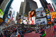 Times Square in New York City, NY USA Royalty Free Stock Photos