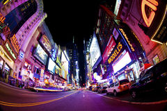 Times Square. NEW YORK CITY - SEPT 22: Times Square and 42nd Street  is a busy tourist intersection of neon art and commerce and is an iconic street of New York Stock Images