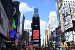 Times Square in New York City. royalty free stock photography