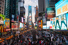 Times Square, New York City, USA. NEW YORK CITY -MARCH 25: Times Square, featured with Broadway Theaters and animated LED signs, is a symbol of New York City royalty free stock images