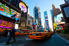 Times Square, New York City, USA. NEW YORK CITY -MARCH 25: Times Square, featured with Broadway Theaters and animated LED signs, is a symbol of New York City stock photography