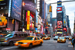 Times Square, New York City, USA. NEW YORK CITY -MARCH 25: Times Square, featured with Broadway Theaters and animated LED signs, is a symbol of New York City royalty free stock photography