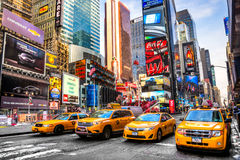 Times Square, New York city, USA. NEW YORK CITY - DEC 01 Times Square ,is a busy tourist intersection of neon art and commerce and is an iconic street of New stock image