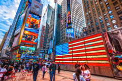 Times Square, New York City, USA. NEW YORK CITY -MARCH 25: Times Square, featured with Broadway Theaters and animated LED signs, is a symbol of New York City royalty free stock image