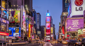 Times Square in New York City, USA. The wonderful lights of Times Square in New York city, USA at night stock photography
