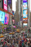 Times Square in New York City. Vertically. Royalty Free Stock Images