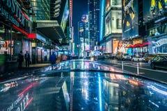 Times Square, New York, de V.S., 16 Oktober 2018 stock afbeeldingen