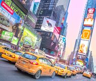 Times Square,New York. NEW YORK - DECEMBER 22, 2013: traffic in Times Square,New York..Times Square is a symbol of New York City and the United States royalty free stock photo