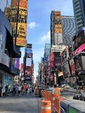 Times square , New York. Morning view on Times Square Royalty Free Stock Photo