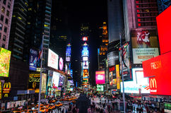 Times Square. New York; At night royalty free stock photo