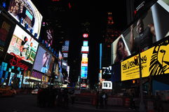 Times Square New York noc Royalty Free Stock Photography