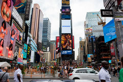 Times Square. New York, NY: August 28, 2016: New York Times Square large LED signs/billboards. On an average day, 360,000 people visit Times Square Stock Photography