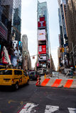 Times Square. New York, NY: August 27, 2016: New York Times Square large LED signs/billboards. On an average day, 360,000 people visit Times Square Stock Photos