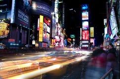 Times Square New York på natten Arkivbilder