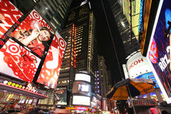 Times Square, New York street night life Janua Stock Image
