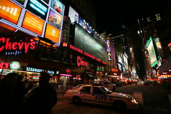 Times Square, New York street night life Royalty Free Stock Images