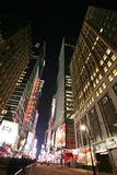 Times Square, New York street night life. New York City, which i Stock Photos