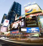 Times square new york taxi movement Royalty Free Stock Photography
