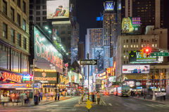 Times Square in New York. New York, USA on 2nd Sept 2015. Times Square is a major commercial intersection and neighborhood in Mid Manhattan at the junction of royalty free stock image