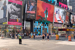 Times Square in New York. New York, USA on 2nd Sept 2015:Times Square is a major commercial intersection and neighborhood in Mid Manhattan at the junction of Royalty Free Stock Images