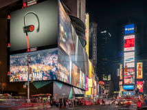 Times Square in New York. New York, USA on 2nd Sept 2015: Times Square is a major commercial intersection and neighborhood in Mid Manhattan at the junction of Royalty Free Stock Photos