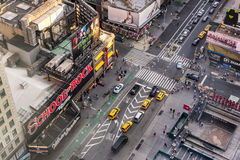 Times Square in New York. New York, USA on 3rd Sept 2015:Times Square is a major commercial intersection and neighborhood in Mid Manhattan at the junction of Stock Image