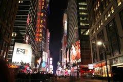 Times Square, New York via notte vita 1° gennaio 2008, nuovo Yo Immagini Stock Libere da Diritti