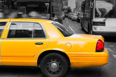 Times Square New York yellow cab daylight Royalty Free Stock Photography